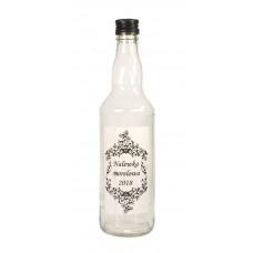 Butelka monopolowa 0,5l +zakrętka +etykieta 10x6