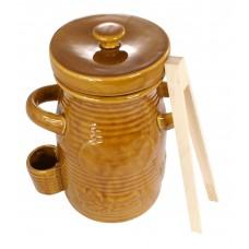Pojemnik ceramiczny na ogórki 1,5l + szczypce GRATIS