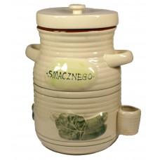 Pojemnik ceramiczny na ogórki 3,5l + szczypce GRATIS