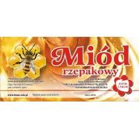 Etykieta pszczelarska - 100 szt. Wzór 1