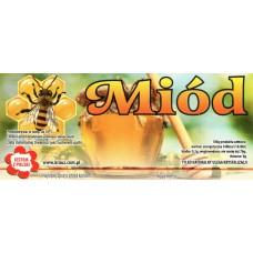 Etykieta pszczelarska - 100 szt. Wzór 11