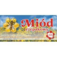 Etykieta pszczelarska - 100 szt. Wzór 2