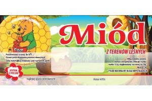 Etykieta pszczelarska - 100 szt. Wzór 23
