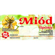 Etykieta pszczelarska - 100 szt. Wzór 5