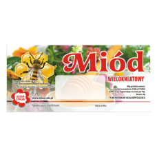 Etykieta pszczelarska - 100 szt. Wzór 6