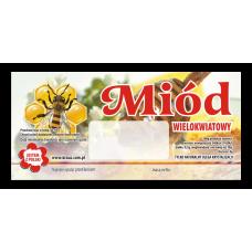Etykieta pszczelarska - 100 szt. Wzór 7