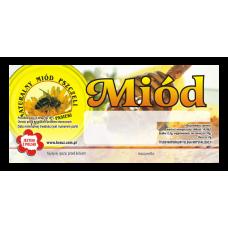 Etykieta pszczelarska - 100 szt. Wzór 9