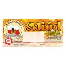 Etykieta pszczelarska - 100 szt. Wzór 10
