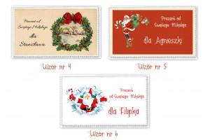 Naklejki na prezenty- świąteczny znaczek DUŻE 1szt