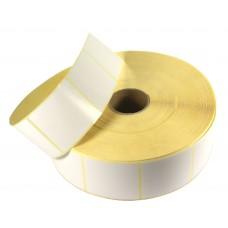 Etykiety samoprzylepne białe 50X55mm + GRATIS