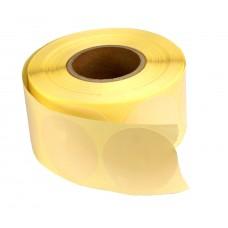 Etykiety samoprzylepne ecru okrągłe fi 40 mm