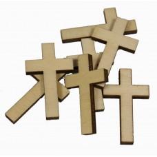Krzyż krzyżyk drewniany - 10szt