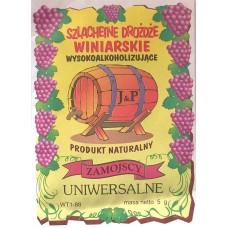 Drożdźe winiarskie J&P Zamojscy - różne rodzaje