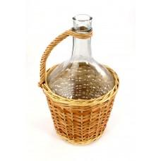 Balon butla do wina 3L Niepełna Wiklina+korek gratis